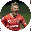 ??  ?? Phoenix striker Ben Waine celebrates his late winner against Western United.