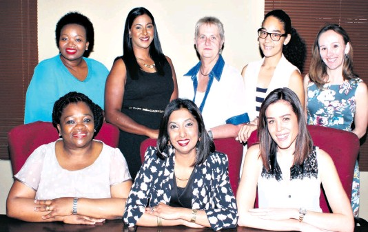 ?? Dave Savides ?? The newly elected BWA Zululand committee is ready to do busines (back) Hlengiwe Mvubu, Cindy Chetty, Rynie Kearns (Treasurer), Clarissa Graham (BWA Coordinator), and Megan Erasmus; (front) Jabu Dlamini (Vice-Chairperson), Ronelle Ramsamy (Chairperson) and Tracy-Anne Aggett (Vice-Chairperson)