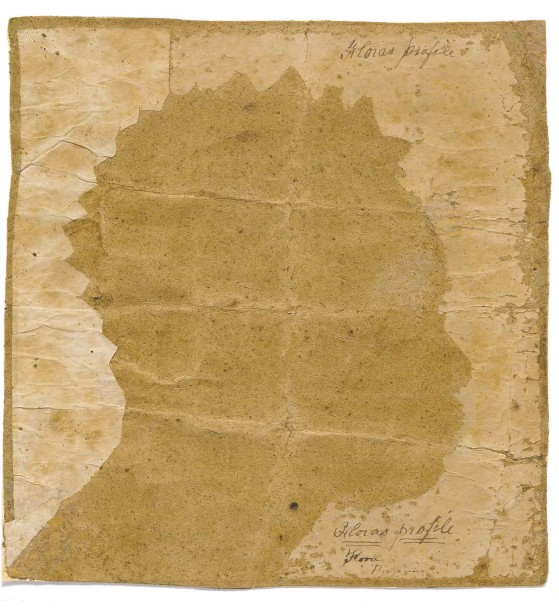 """?? STRATFORD HISTORICAL SOCIETY ?? """"Flora and Bill of Sale,"""" on view at the National Portrait Gallery, is by an unidentified artist in 1796, decades before photography emerged. Flora is believed to have been a woman who was sold as a slave, and the silhouette was probably traced from a..."""