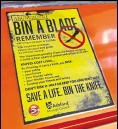 ??  ?? Bins have been installed in Ashford's town centre to combat knife crime