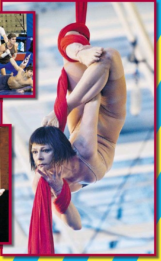 ?? PHOTOS: DAVE SIDAWAY THE GAZETTE ?? Isabelle Vaudelle performs Aerial Contortion in Silk, part of Quidam, which opens next Saturday.
