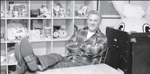 ?? By Jefferson Graham, USA TODAY ?? Mondo man:Mondo Media founder John Evershed at his offices in San Francisco.