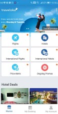 ??  ?? The mobile app of Traveloka, one of the various online travel agents popular in Thailand.