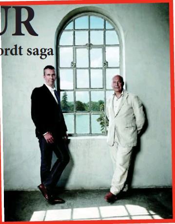 ??  ?? Axel Vervoordt (right) with his son Boris.