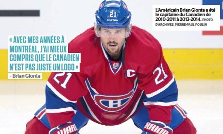 ?? PHOTO D'ARCHIVES, PIERRE-PAUL POULIN ?? L'américain Brian Gionta a été le capitaine du Canadien de 2010-2011 à 2013-2014.