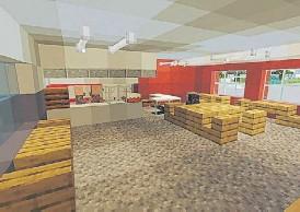 ??  ?? Un saló´n de la tradicional escuela al estilo Minecraft.