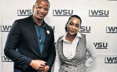 ?? / SUPPLIED ?? Zanodumo Godlimpi and Siphosethu Mgwili helping prosthetic limbs innovation.