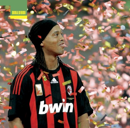 ??  ?? Above Ronnie left Barça for Milan in 2008 and helped the Rossoneri win Serie A in 2010-11