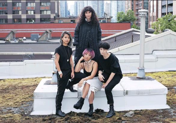?? KATI JENSON ART PHOTOGRAPHY ?? CURRENT: Feminist Electronic Art Symposium founders (clockwise, from top) Soledad Fatima Muñoz, Ash Luk, Nancy Lee and Alexandra Chen.