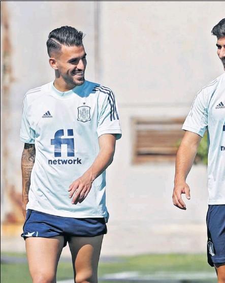 ??  ?? Ceballos y Asensio, en un entrenamiento de la Selección Olímpica.