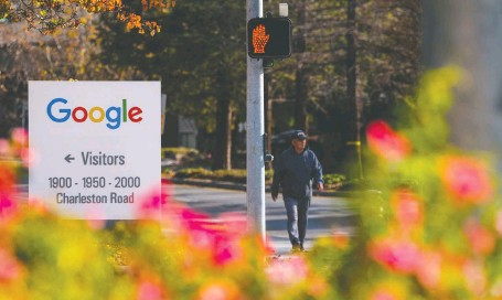 ?? DAVID PAUL MORRIS/ BLOOMBERG ?? Google and Facebook have denied allegations that they colluded and manipulated the online advertising market.