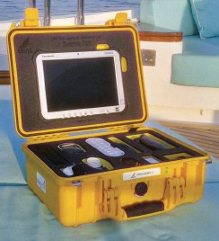 ??  ?? MSOS'S distinctive yellow medical kits carry an array of over-the-counter and prescription medications and gear (above). Digigone's communications kit (below, left) also contains an array of monitoring devices, as does MSOS'S case.