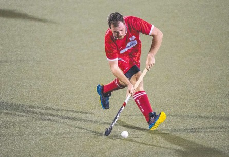 ?? Picture: Nev Madsen ?? STRIKE: Michael Boyd scored a goal for Red Lion in the team's 6-0 defeat of Rangeville in the second round of the Toowoomba Hockey A1 competition.