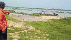 ?? Cortesía ?? Este es el lugar donde se está metiendo el río.