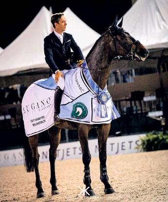?? Bild: Kaitlyn Karssen ?? Alingsåsaren Lovisa Munter ska hjälpa den irländska hästhopparen Bertram Allen till medalj i OS.