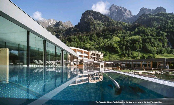 ??  ?? The Feuerstein Nature Family Resort is the ideal family hotel in the South Tyrolean Alps.