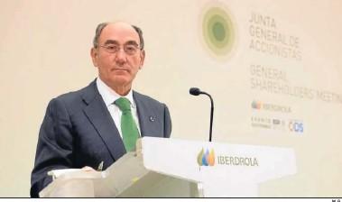 ?? M. G. ?? Ignacio Galán, presidente de Iberdrola, en la junta de accionistas celebrada en Bilbao.