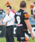 ??  ?? TENSE: Jason Taylor and Robbie Farah eye each other off before Sunday's game.