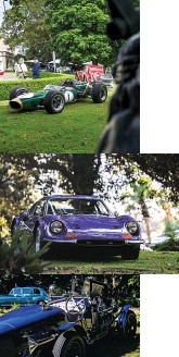 ??  ?? From top: Sir Jack's 1966 F1 title-winning Brabham BT19; '73 Dino took the 'Fun, Fun, Fun' class; Style et Lux glory went to 1922 Delage/hispano Suiza