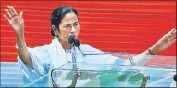 ?? PTI ?? West Bengal chief minister Mamata Banerjee addresses Martyr's Day rally in Kolkata on Tuesday.
