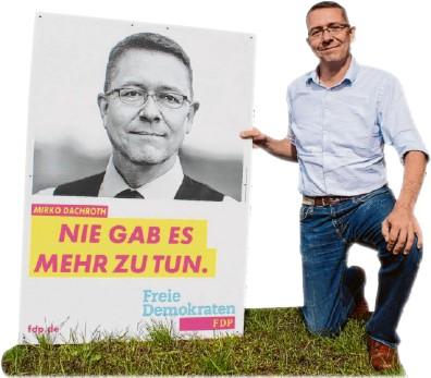 ??  ?? Bildung und Sicherheit: Das sind die Schwerpunktthemen von Fdp-kandidat Mirko Dachroth.