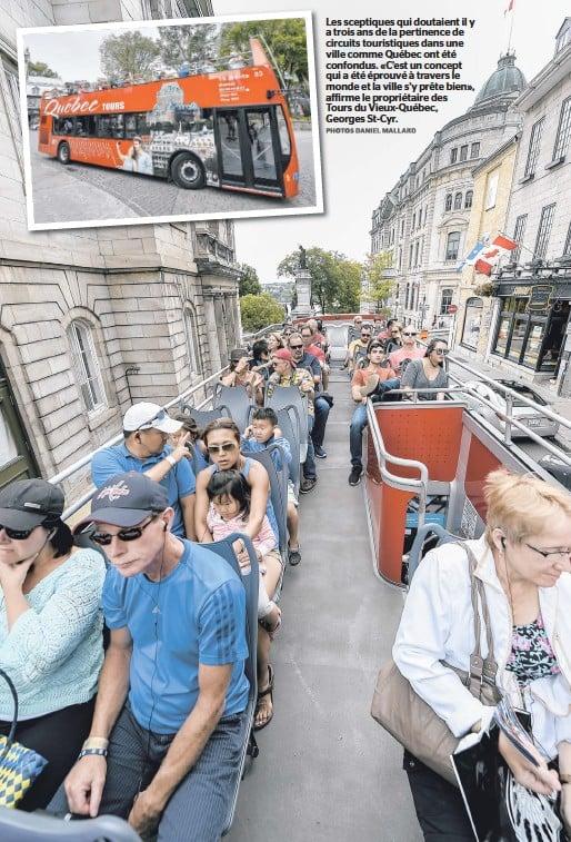 ??  ?? Les sceptiques qui doutaient il y a trois ans de la pertinence de circuits touristiques dans une ville comme Québec ont été confondus. «C'est un concept qui a été éprouvé à travers le monde et la ville s'y prête bien», affirme le propriétaire des Tours...