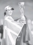 ?? STUART FRANKLIN, GETTY IMAGES ?? Lydia Ko won the Evian Championship, her ninth career title, by six strokes.