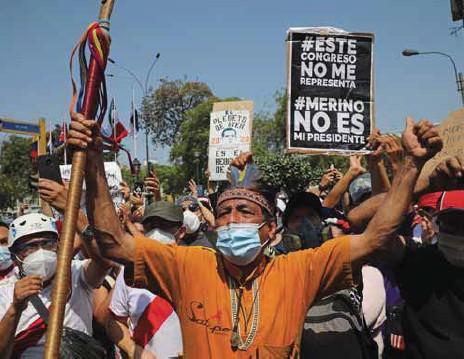 ?? / AP ?? Manifestaciones. Las marchas se multiplicaron por todo el país andino en la última semana.