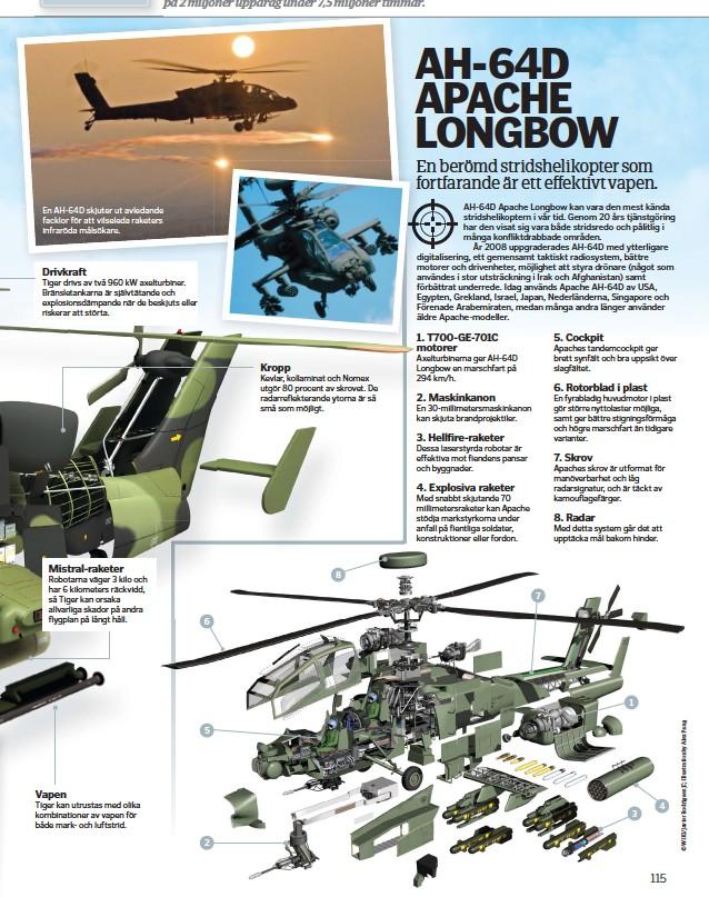 ??  ?? En AH-64D skjuter ut avledande facklor för att vilseleda raketers infraröda målsökare.