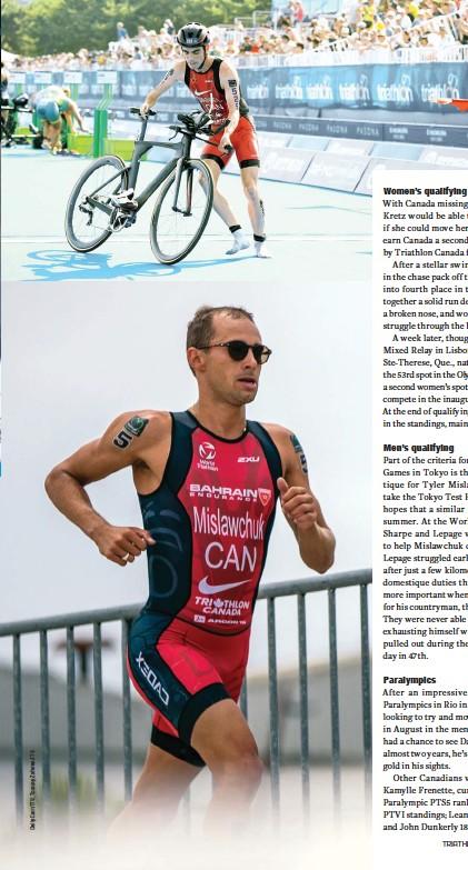 ??  ?? OPPOSITE Joanna Brown races in Yokohama LEFT Stefan Daniel LEFT BELOW Tyler Mislawchuk races in Lisbon