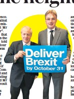 ??  ?? Daniel Kawczynski, pictured with Boris Johnson, was 'repeatedly rude' to staff