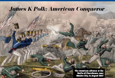 ??  ?? The American advance at the Battle of Churubusco, near Mexico City, in August 1847