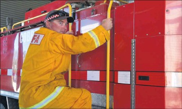 ??  ?? Check before use: Cobram Fire Brigade captain Adrian Hilder said people should check their heating systems to avoid house fires.