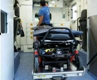 ??  ?? Als RTW kommen durchweg Mercedes Sprinter mit Kofferaufbau von Miesen zum Einsatz.