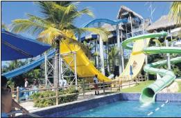 ?? SANDRA NOWLAN PHOTO ?? Lots of great slides at the Memories Splash Water Park.