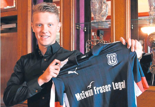 ?? Picture: David Young. ?? Mark O'Hara at Dens last night after becoming a Dundee player.