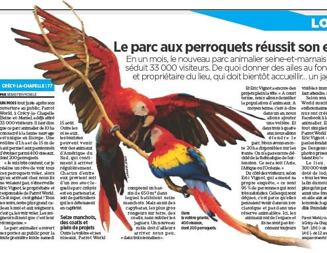 Les Bons Debuts Du Parc Aux Perroquets Pressreader