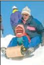 ??  ?? Published tips suggest neck warmers, not scarves, for children on toboggans.