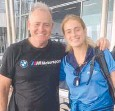 ??  ?? David Campese with his daughter Sienna.
