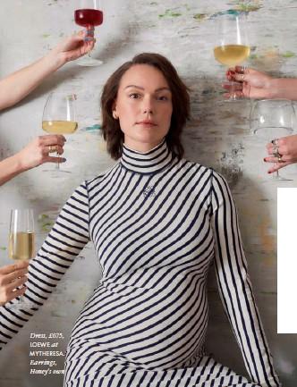 ??  ?? Dress, £675, LOEWE at MYTHERESA. Earrings, Honey's own