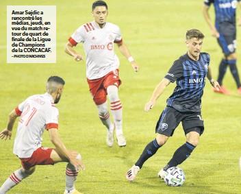 ?? – PHOTO D'ARCHIVES ?? Amar Sejdic a rencontré les médias, jeudi, en vue du match retour de quart de finale de la Ligue de Champions de la CONCACAF.