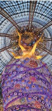 ?? PASCAL LE SEGRETAIN/GETTY IMAGES ?? Magnificent interior view of the Galeries Lafayette in Paris.
