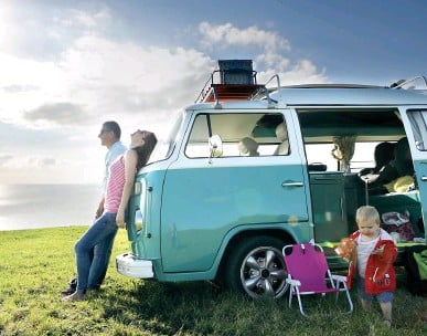 ?? Picture: GETTY ?? GO THE DISTANCE: Motorhomes and camper vans provide a personal holiday bubble for families