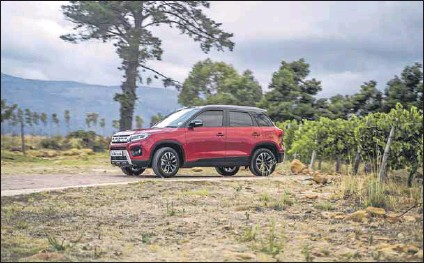 ??  ?? Comfortable: Suzuki's Vitara Brezza offers a smooth ride even over Joburg's legendary potholes