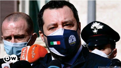 ??  ?? Salvini, the leader of the right-wing Lega Nord party, is known for his hardline views on immigration