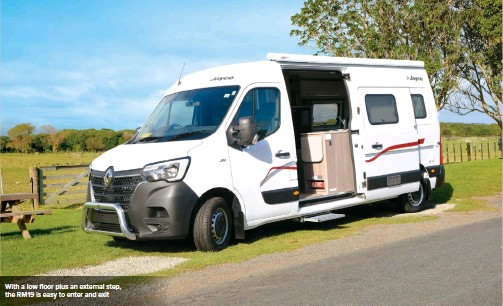 ??  ?? With a low floor plus an external step, the RM19 is easy to enter and exit