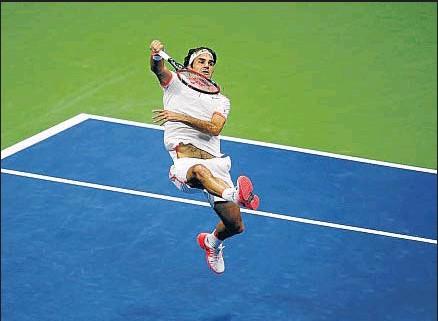 ?? JULIO CORTEZ / AP ?? Roger Federer no se clasificaba para la final en Nueva York desde el 2009