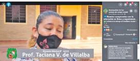 """??  ?? """"Gracias intendente"""" debe decir una maestra en videos de las redes oficiales del municipio de San Lorenzo."""