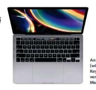 ??  ?? An ipad Pro (wi (with a Magic Key Keyboard) ver versus a Ma Macbook Pro.