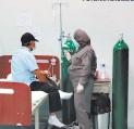 ?? FOTO: EL HERALDO ?? Personal del HGS y de los triajes son los primeros en vacunarse.
